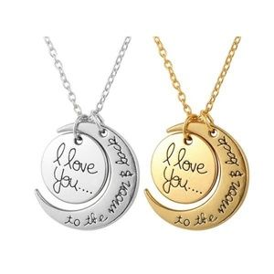 Jewelry - 💛3/$20 I Love You To The Moon And Back Necklace